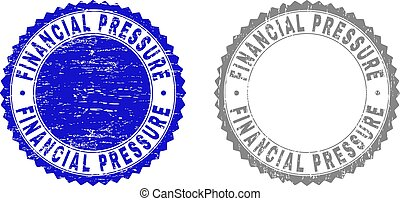 Grunge FINANCIAL PRESSURE Textured Watermarks