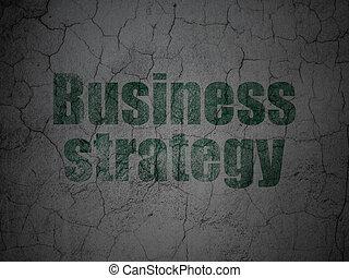 grunge, finanse, handlowy, ściana, strategia, tło, concept:
