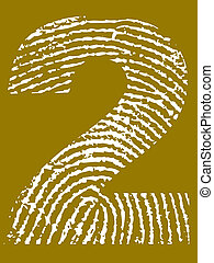 Fingerprint Alphabet - Number 2