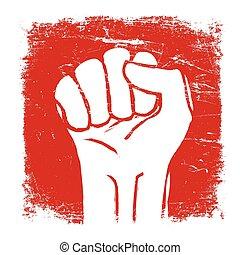 Grunge fist illustration. Vector