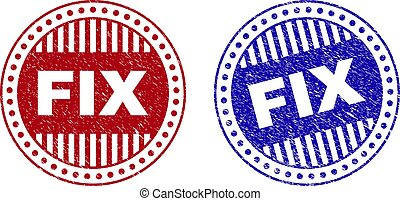 Grunge FIX Scratched Round Watermarks - Grunge FIX round...