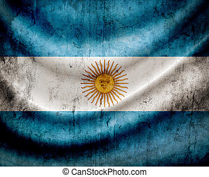 Grunge flag Argentina