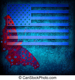 grunge flag background USA