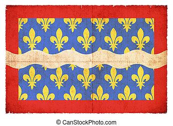 Grunge flag Cher (France)