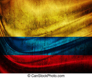Grunge flag Colombia