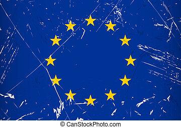 Grunge flag country - EU