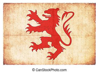 Grunge flag Gers (France)