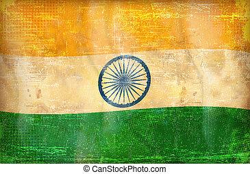 Grunge flag -  India