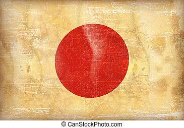 Grunge flag japan