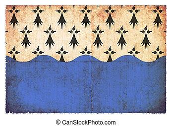 Grunge flag Morbihan (France)