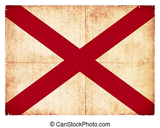 Grunge flag of Alabama (USA)
