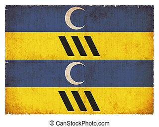 Grunge flag of Ameland (Fryslan, Netherlands)