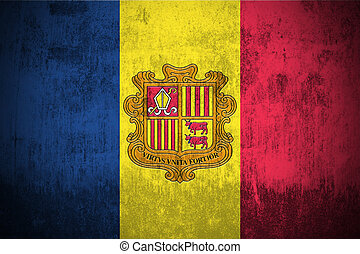 Grunge Flag Of Andorra