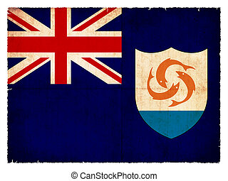 Grunge flag of Anguilla (British overseas territory)
