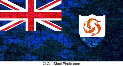 Grunge flag of Anguilla