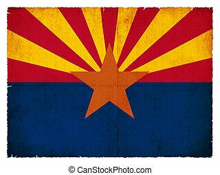 Grunge flag of Arizona (USA)