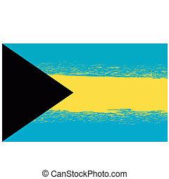 Grunge Flag of Bahamas Isolated
