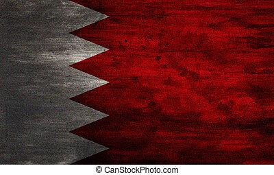 Grunge flag of Bahrain