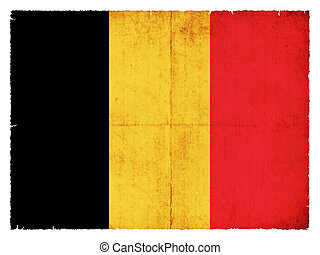 Grunge flag of Belgium - National Flag of Belgium created in...