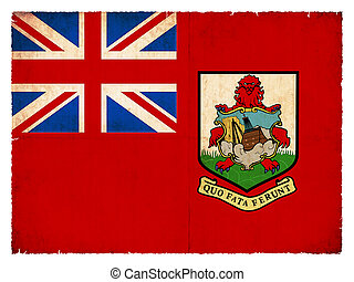 Grunge flag of Bermuda