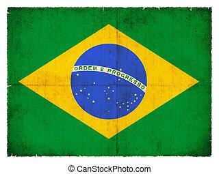 Grunge flag of Brazil - National Flag of Brazil created in ...