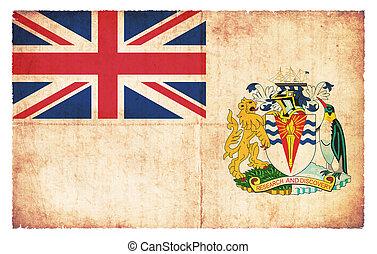 Grunge flag of British Antarctic Territory (Great Britain)