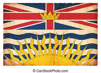 Grunge flag of British Columbia (Canadian province)