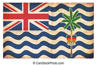 Grunge flag of British Indian Ocean Territory (Great Britain)