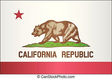 Grunge flag of California