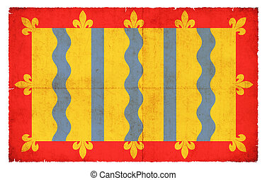 Grunge flag of Cambridgeshire (Great Britain) - Flag of the...