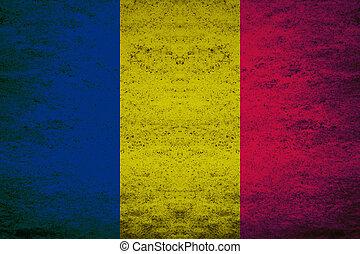 Grunge flag of Chad