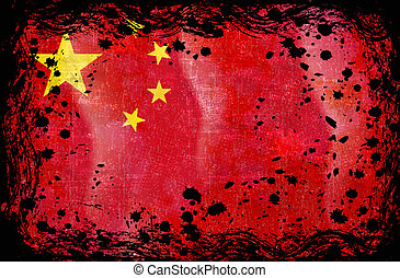Grunge Flag of China.