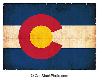 Grunge flag of Colorado (USA)