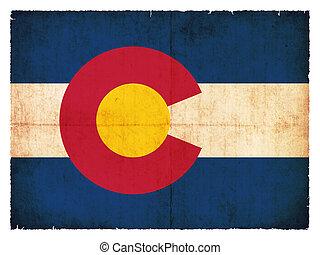 Grunge flag of Colorado (USA)