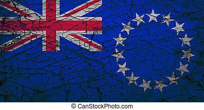 Grunge flag of Cook Islands