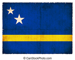 Grunge flag of Curacao (Netherlands)