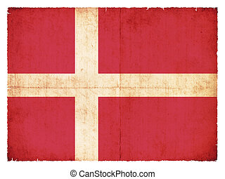 Grunge flag of Denmark