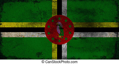 Grunge flag of Dominica