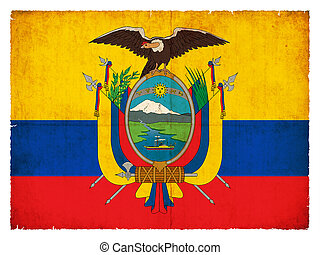 Grunge flag of Ecuador