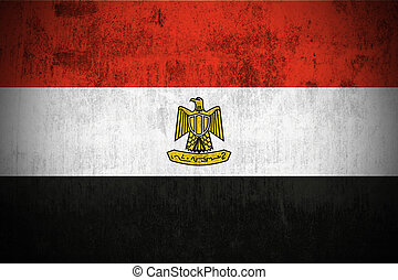 weathered flag of Egypt, paper textured