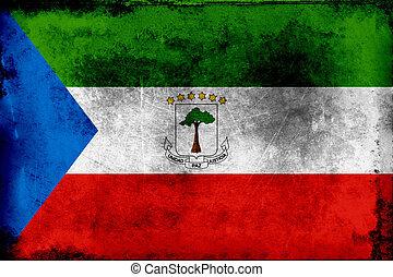 Grunge flag of Equatorial Guinea