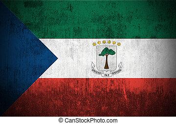 Grunge Flag Of Equatorial Guinea - Weathered Flag Of ...