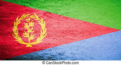 Grunge flag of Eritrea