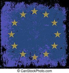 EU - grunge flag of EU