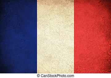 Grunge Flag of France