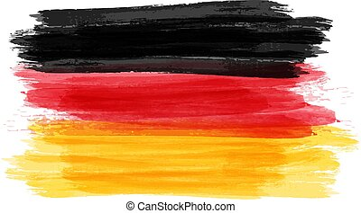 Grunge flag of Germany - Abstract painted grunge flag of ...
