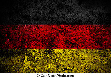 grunge flag of Germany with capital in Berlin