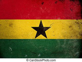 Grunge Flag of Ghana