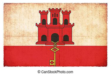 Grunge flag of Gibraltar (Great Britain)