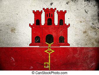 Grunge Flag of Gibraltar